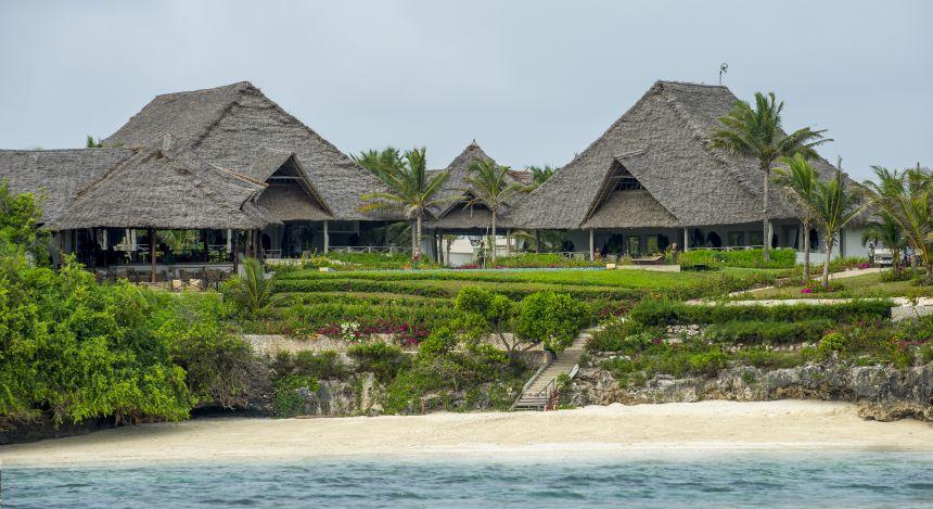 Außenansicht des Zawadi Hotels in Sansibar, Tansania