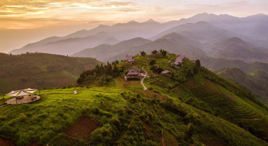 Sapa in den Alpen von Tonkin im Norden Vietnams