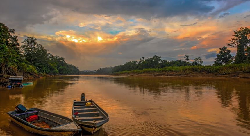 Kinabatangan Fluss