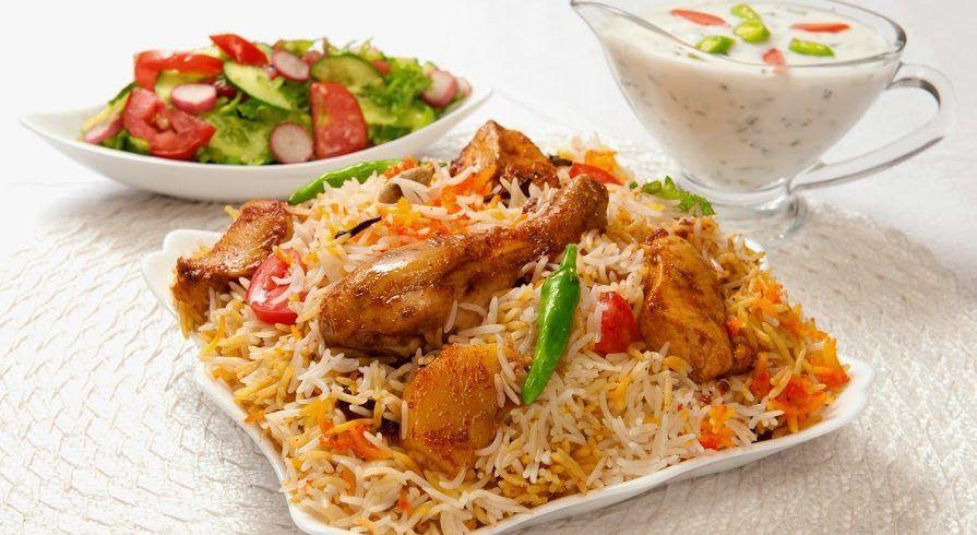 Indisches Essen: Chicken Biryani