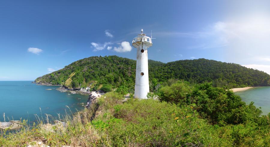 Der Leuchtturm ist das Wahrzeichen vom Koh Lanta Nationalpark