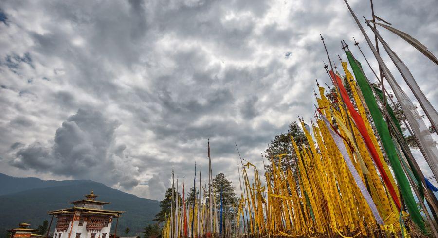 Wolkenhimmel in Bhutan