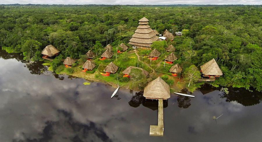 Enchanting Travels - Ecuador Tours - Yasuni - Napo Wildlife Center - aerial view