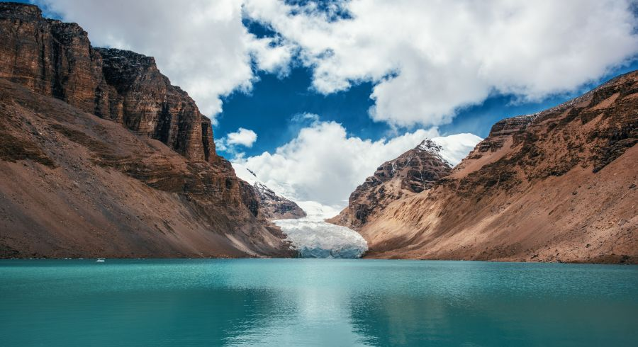Cu den Nima Gletscher bei Shigatse