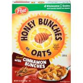 Post Cereals Honey Bunches Of Oat With Cinnamon Bunche