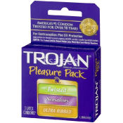Trojan Pleasure Pack Lubricated Condom