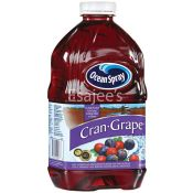 Ocean Spray Juice Bottle 100% Cranberry & Grape