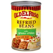 Old El Paso Refried Beans With Green Chiles