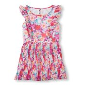 The Children's Place  Girl Floral Pleated Dress Irish Field