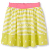 The Children's Place  Girl Matchables Striped Skort Ripe Banana
