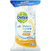 Dettol Power & Pure Advance Kitchen Wipes