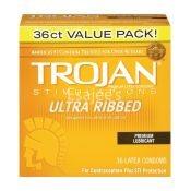Trojan Condoms Ultra Ribbed Premium Lubricant