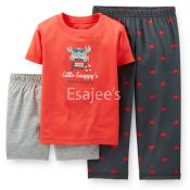 Carters Boy Jersey Sleeper Pajamas 3piece