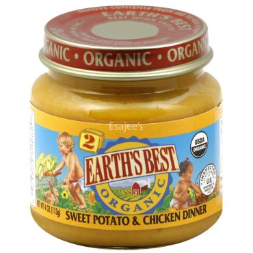 Earths Best Organic Stage 2 Delicious Din Din Sweet Potato & Chicken Dinner Baby Food