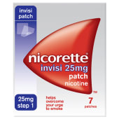 Nicorette Invisi 25mg Patch Nicotine 7 Patches