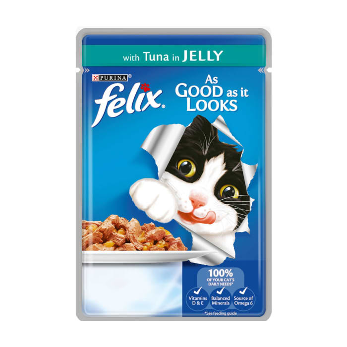 Felix Pouch As Good As It Looks Tuna In Jelly 100 Grams