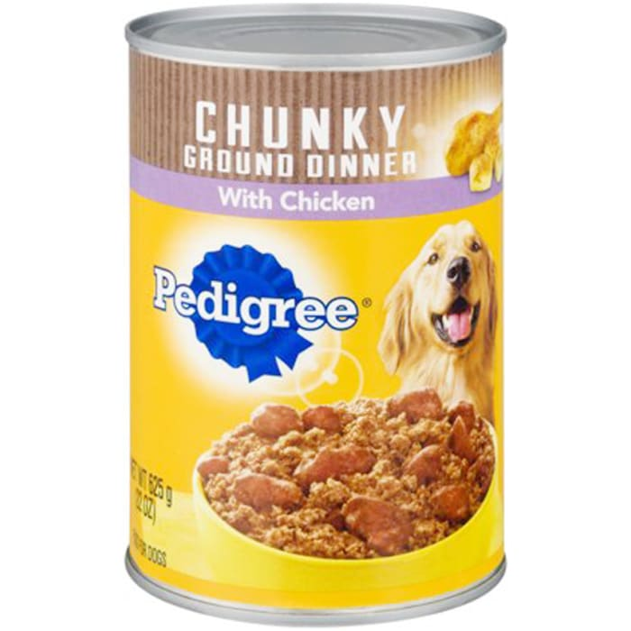 Pedigree Chopped Ground Dinner With Chicken Canned Dog Food