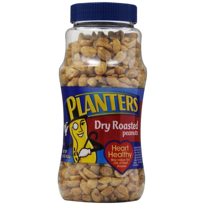 Planters  Peanuts Bottle Dry Roasted Whole Bottle