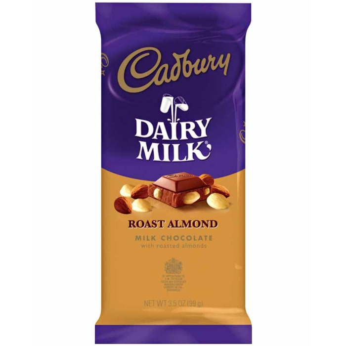 Cadbury Roast Almond Milk Chocolate Bar 99g