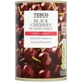Tesco Black Cherries In Light Syrup 425g