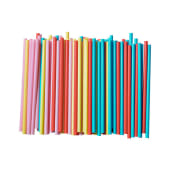 Hotpack 12MM Straw Mix Color