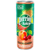 Perrier & Juice Peach & Cherry 25cl