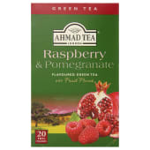 Ahmad Green Tea 20 Tea Bags Raspberry & Pomegranate 40g