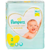 Pampers Premium Care Diapers Mini Size 2 - 80 Pieces