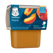 Gerber 2nd Foods Peach Baby Food 2 Pack