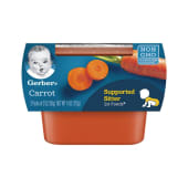 Gerber Supported Sitter 1st Fod Pack of 2 Carrot 113g