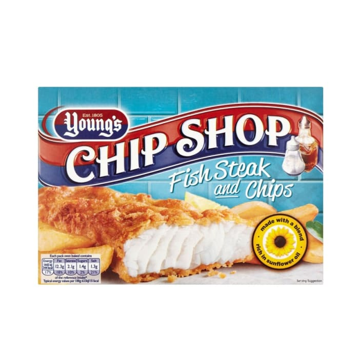 Youngs Frozen Fish Chip Shop Fish Fillet Fish & Chips