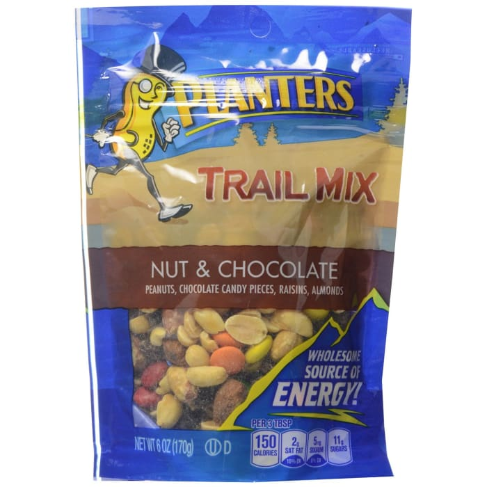 Planters  Trail Mix Nuts & Chocolate Bags