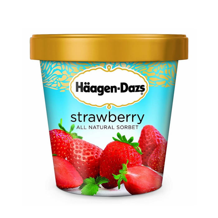 Haagen Dazs Strawberry Sorbet Ice Cream