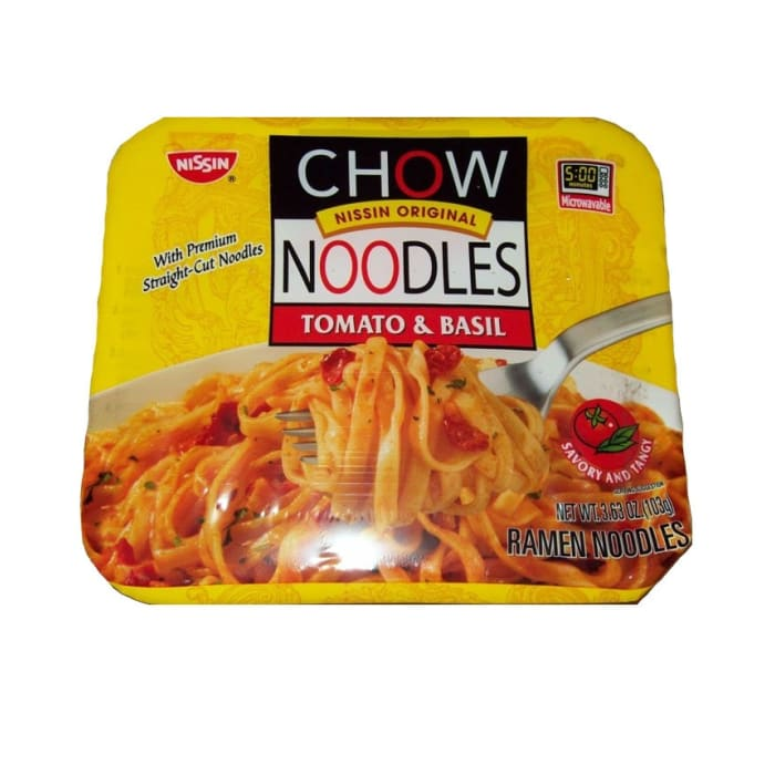 Nissin Microwavable Chow Noodles Tomato & Basil