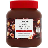 Tesco Hazelnut Chocolate Spread 400g