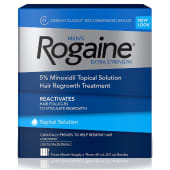 Rogaine Men's Extra Strength 5% Minoxidil Topical Solution Hair Regrowth Treatment