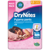DryNites Pyjama Pants Maxi Pack 3-5 Years | 16-23 Kg | 16 Pieces