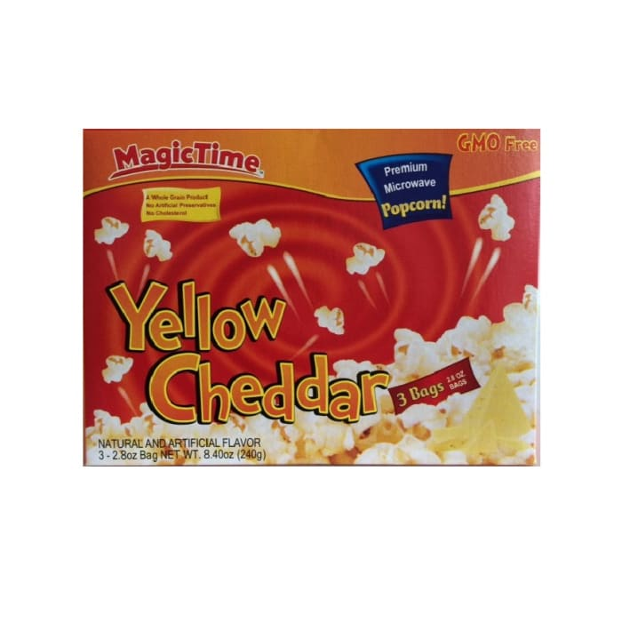 Magic Time Premium Microwave Popcorn Yellow Cheddar