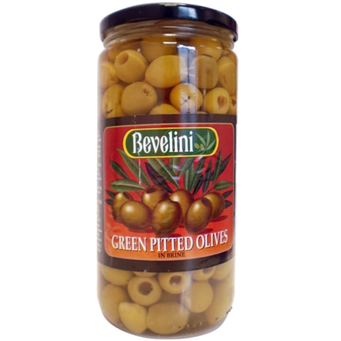 Bevelini Pitted Green Olives