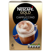 Nescafe Gold Cappuccino 8 Mug Decaf Coffee