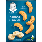 Gerber Graduates Banana Cookies Baked with Real Bananas