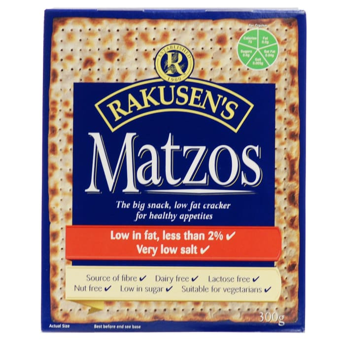 Rakusens Matzo  Matzos Lamb Low Fat Crackers