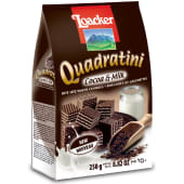 Loacker Quadratini Cocoa & Milk Wafer Cookies