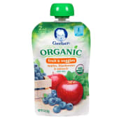 Gerber Organic Apple Blueberry & Spinach Baby Food