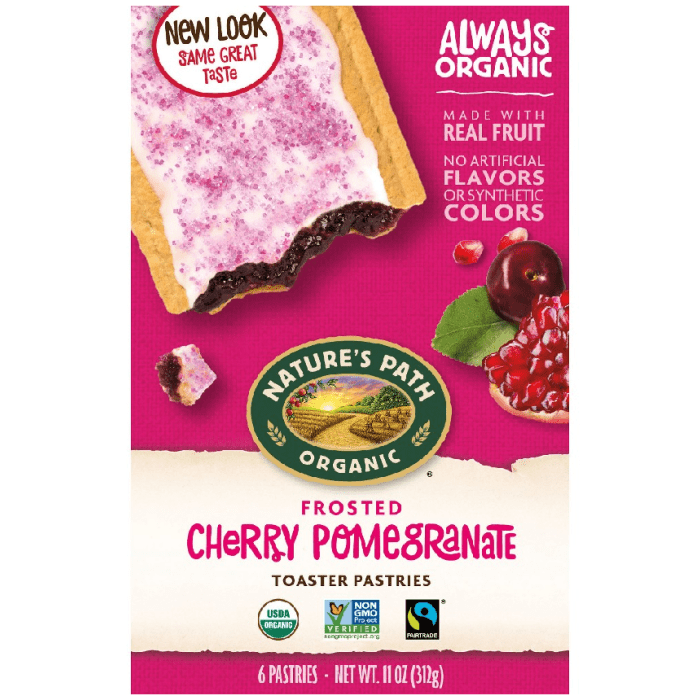 Nature's Path Organic Frosted Cherry Pomegranate Toaster Pastries - Pop Tarts