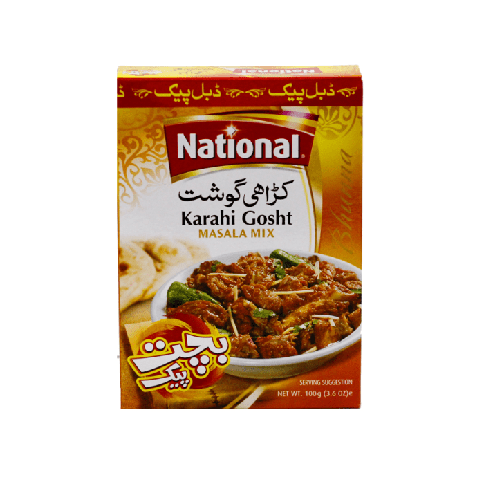 National Karahi Gosht Masala Mix 100 Grams