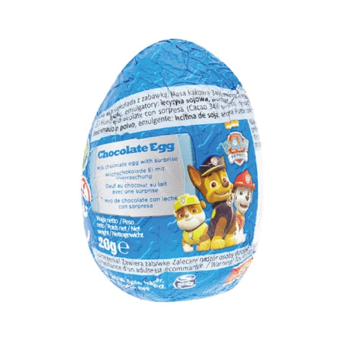 Paw Patrol Chocolate Eggs