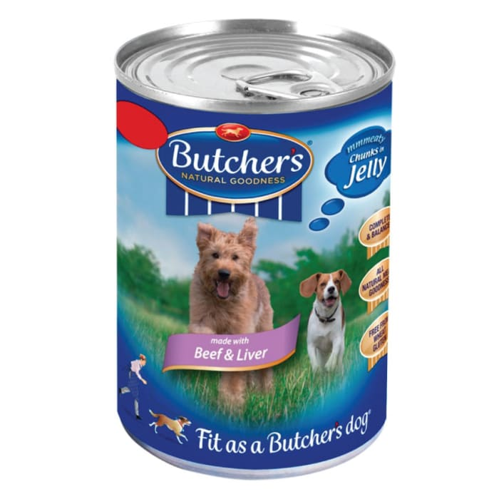 Butchers Dog Food Beef & Liver Chunks in Jelly
