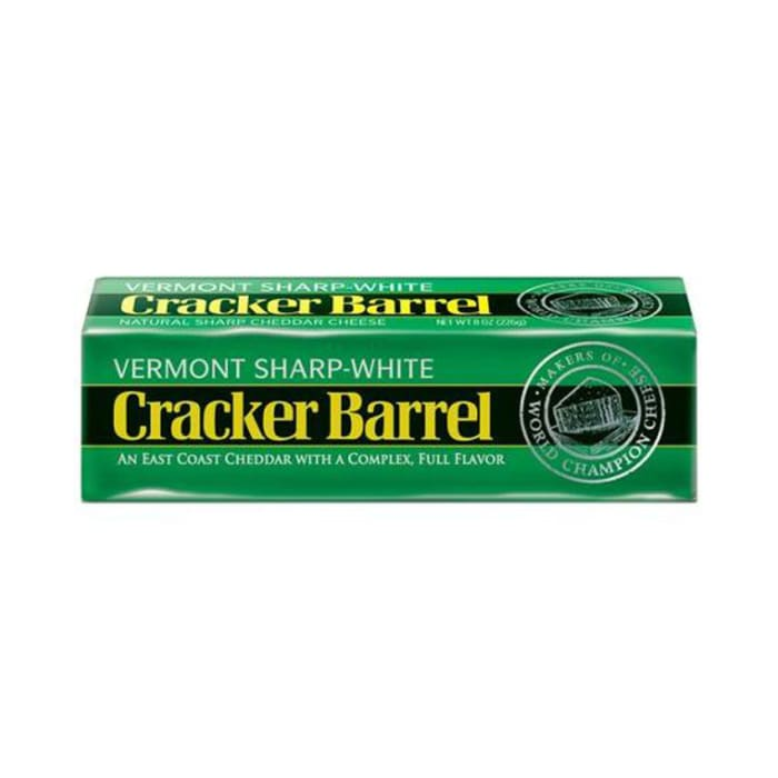 Cracker Barrel Cheese Vermont Sharp White Green