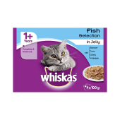 Whiskas 1 Years Cat Pouches Fish Selection in Jelly